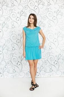 Платье с драпировкой 20103-11