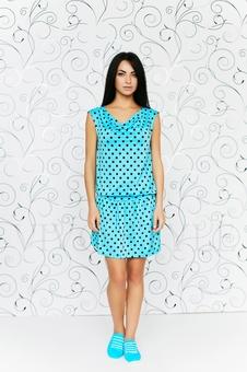 Платье с драпировкой 20103-3