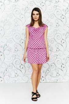 Платье с драпировкой 20103-4