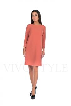Платье однотонное 20120-4