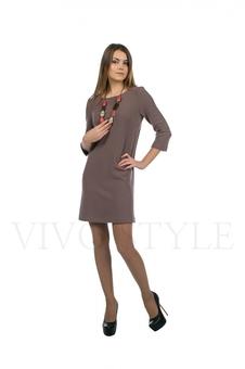 Платье однотонное 20120-11