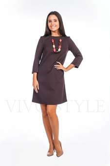 Платье однотонное 20120-3