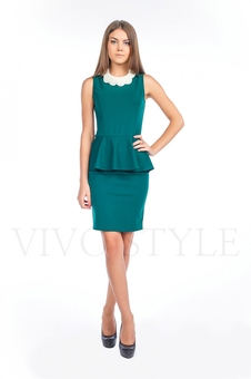 Офисное платье из трикотажа 20121-3