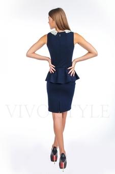Офисное платье из трикотажа 20121-4