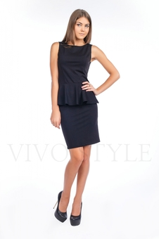 Офисное платье из трикотажа 20121-6