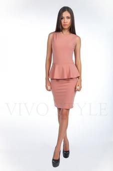 Офисное платье из трикотажа 20121-2