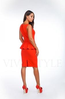 Офисное платье из трикотажа 20121-1
