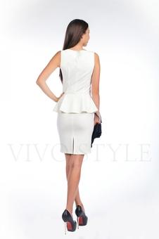 Офисное платье из трикотажа 20121-5
