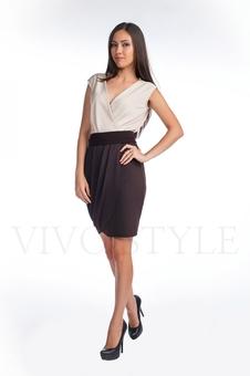Платье с лифом и юбкой на запах 20122-1