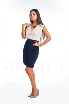 Платье с лифом и юбкой на запах 20122-2