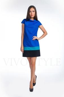 Платье со вставками по низу 20123-6