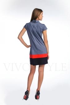 Платье со вставками по низу 20123-5