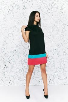 Платье со вставками по низу 20123-7