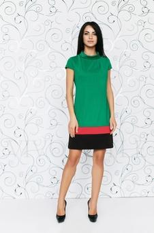 Платье со вставками по низу 20123-8