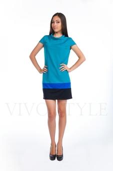Платье со вставками по низу 20123-1