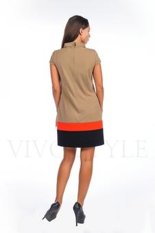 Платье со вставками по низу 20123-4