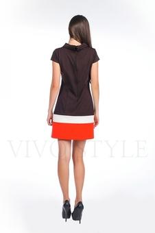 Платье со вставками по низу 20123-2