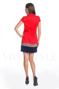 Платье со вставками по низу 20123-3