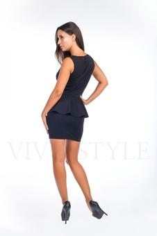 Платье короткое с баской 20124-2