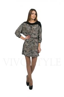 Платье с контрастной кокеткой 20127-1