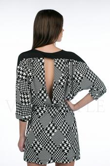 Платье с контрастной кокеткой 20127-3