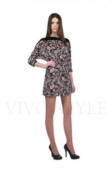 Платье с контрастной кокеткой 20127-2