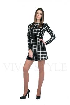 Платье с геометрическим орнаментом 20128-2