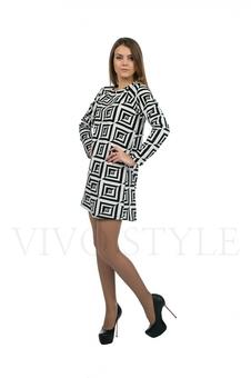 Платье с геометрическим орнаментом 20128-1
