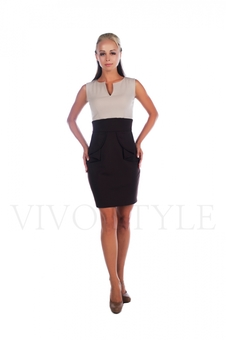 Платье футляр без рукавов 20137-1