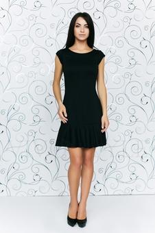 Платье с глубоким вырезом по спинке 20139-3