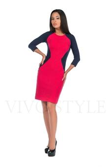 Платье с контрастными вставками 20148-4