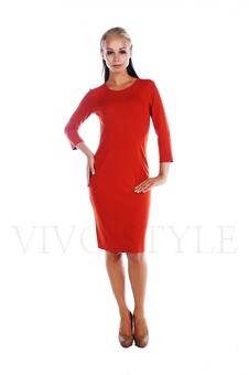 Простое женское платье миди 20156-1