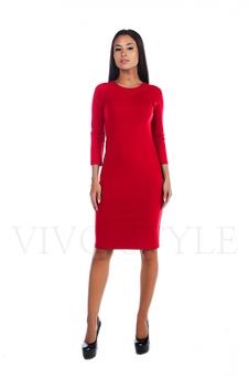 Простое женское платье миди 20156-4