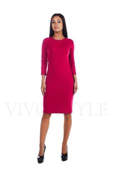 Простое женское платье миди 20156-3
