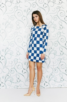 Платье расширенное к низу 20157-5