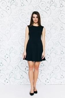 Платье женское со спущенным рукавом 20158-1