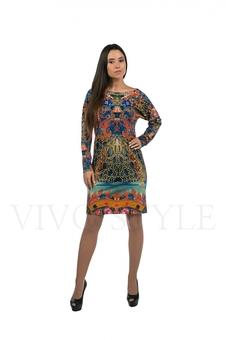 Закрытое женское платье 20166-6