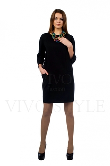 Платье прямого силуэта с рукавом реглан 20167-5