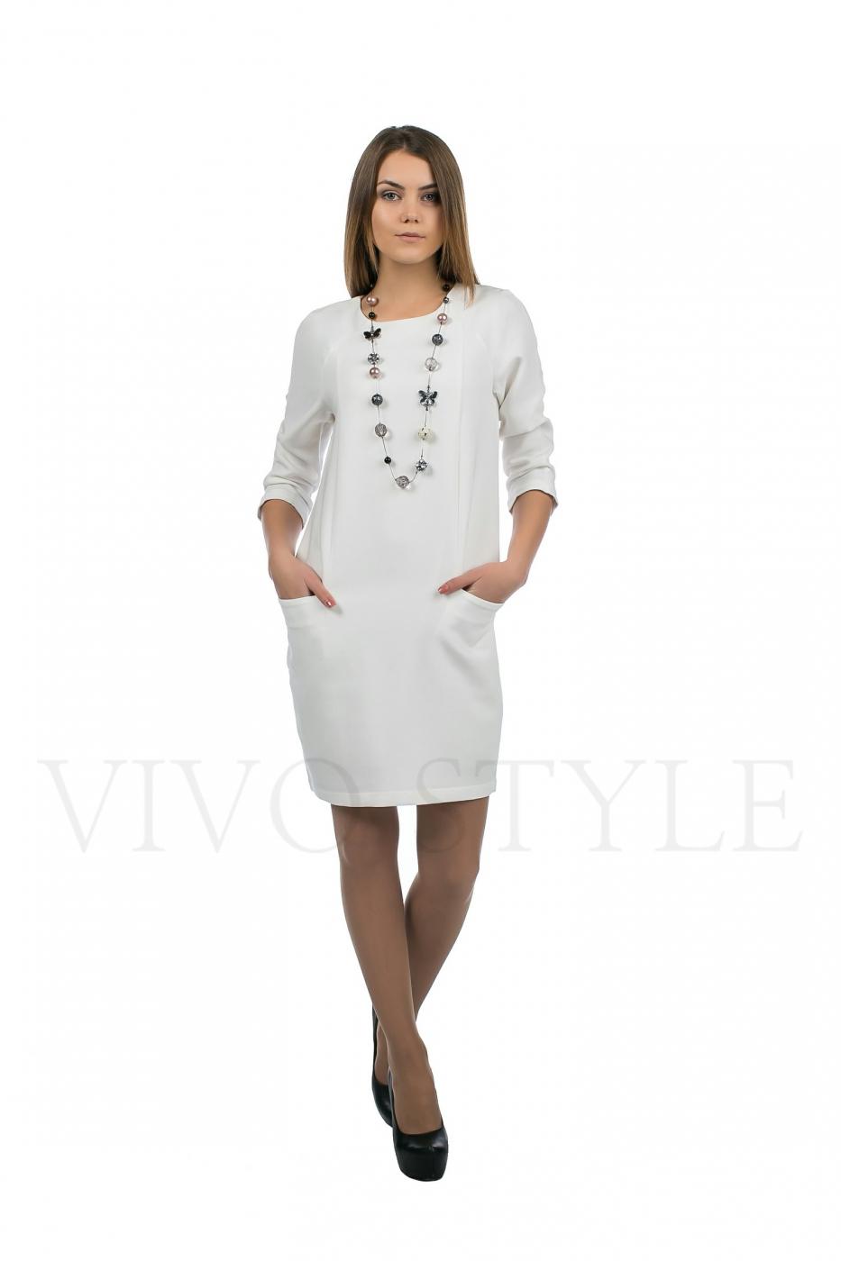 демисезонное платье с рукавом три четверти