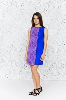 Платье с шифоновой вставкой 20206-4
