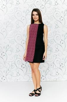Платье с шифоновой вставкой 20206-5