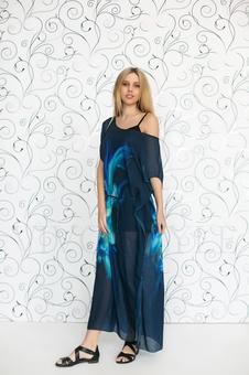 Женское платье макси с крупным рисунком 20220-2