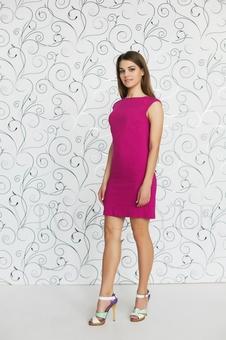 Простое женское платье мини 20227-1