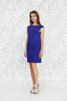 Простое женское платье мини 20227-2