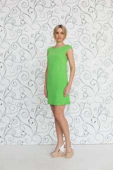 Простое женское платье мини 20227-3