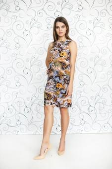 Женское платье с принтом 20232-1