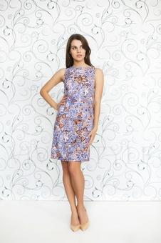 Женское платье с принтом 20232-2
