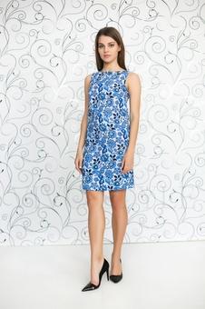 Женское платье с принтом 20232-3