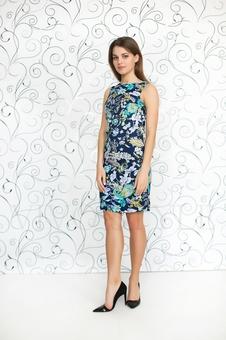 Женское платье с принтом 20232-4
