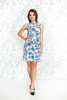 Женское платье с принтом 20232-5